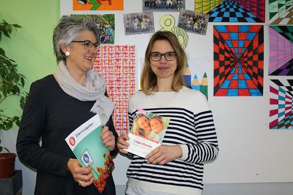 Heike Unterleider und Miriam Eichler informieren über Fördermaßnahmen an der Schule
